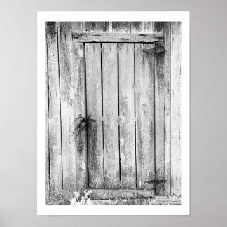 Cerradura de puerta de granero póster
