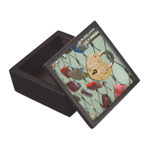Cerradura del amor cajas de recuerdo de calidad