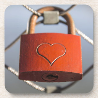 Cerradura del amor posavaso