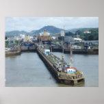 Cerradura del Canal de Panamá Póster