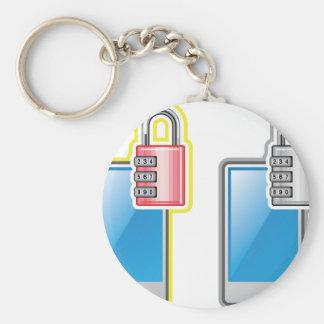 Cerradura del teléfono llavero redondo tipo pin
