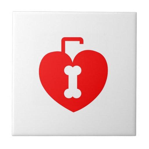 Cerradura en forma de corazón teja  ceramica