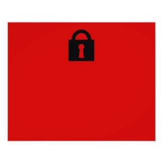Cerradura Icono secretísimo o confidencial Tarjeton