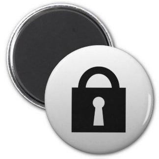 Cerradura. Icono secretísimo o confidencial Imán Redondo 5 Cm