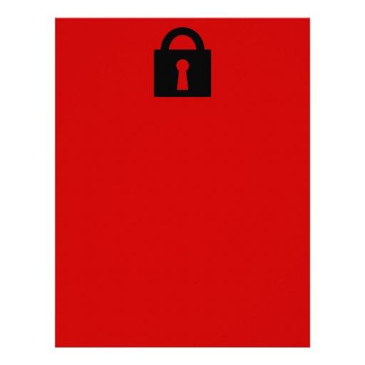 Cerradura. Icono secretísimo o confidencial Membretes Personalizados