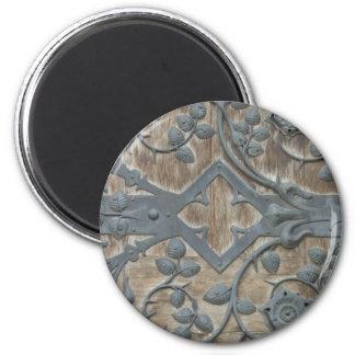 Cerradura medieval imán redondo 5 cm