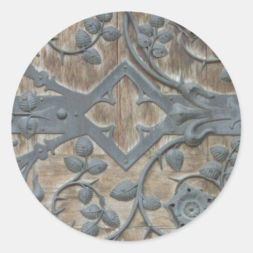Cerradura medieval etiqueta