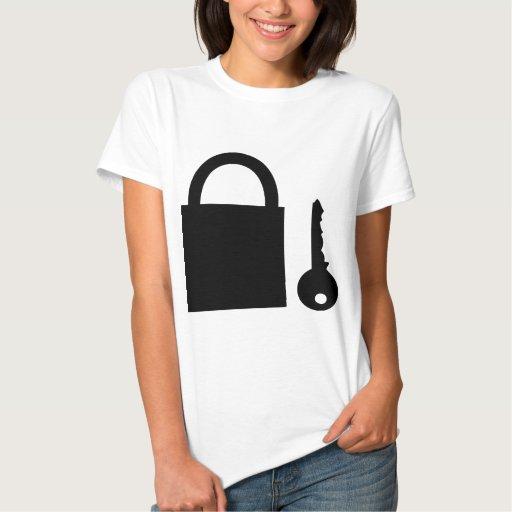cerradura y llave camiseta