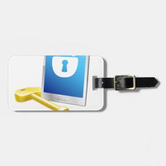 Cerradura y llave del teléfono móvil etiquetas bolsas