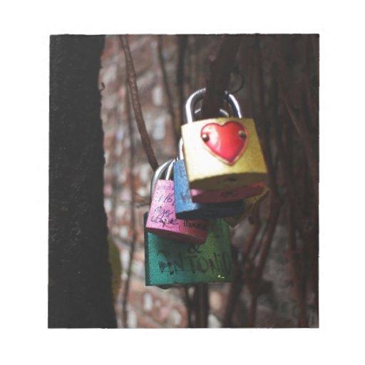 Cerraduras de la tarjeta del día de San Valentín Bloc