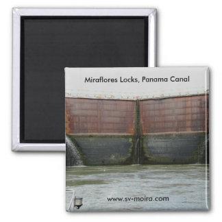 Cerraduras de Miraflores, Canal de Panamá Imán Cuadrado