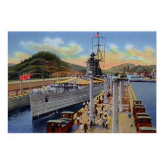 Cerraduras de Pedro Miguel del Canal de Panamá con Posters