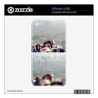 Cerraduras del amor de Seul iPhone 4 Calcomanía