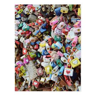 Cerraduras del amor tarjetas postales