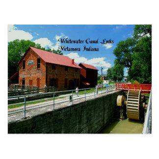 Cerraduras del canal de Whitewater Tarjetas Postales