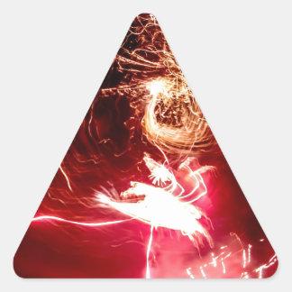 Cerraduras del fuego pegatina triangular