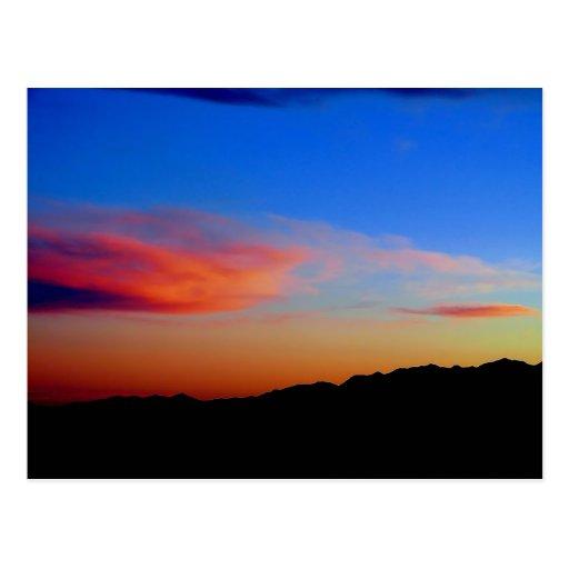 cerrillos sunset postcard