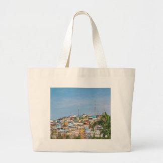 Cerro Santa Ana Guayaquil Ecuador Large Tote Bag