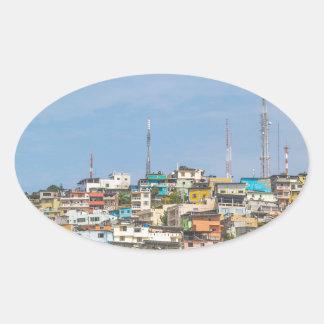 Cerro Santa Ana Guayaquil Ecuador Oval Sticker