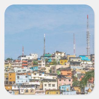 Cerro Santa Ana Guayaquil Ecuador Square Sticker