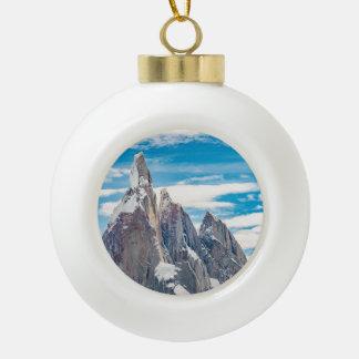 Cerro Torre Parque Nacional Los Glaciares Ceramic Ball Christmas Ornament