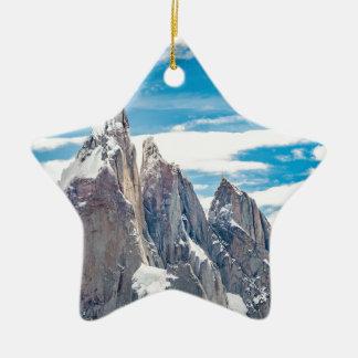 Cerro Torre - Parque Nacional Los Glaciares Ceramic Ornament
