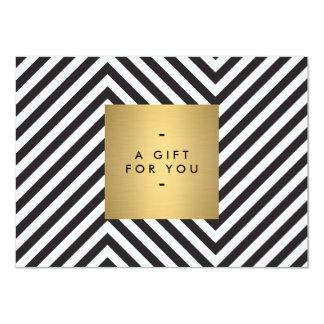 """CERT blanco y negro retro del regalo del nombre Invitación 4.5"""" X 6.25"""""""