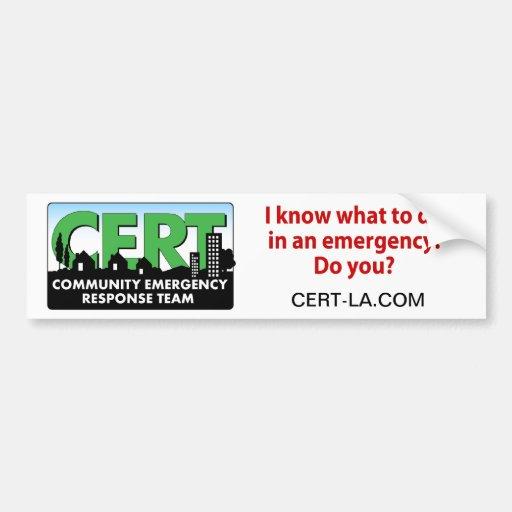 CERT Bumper Sticker-customize