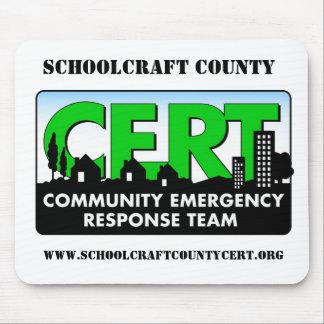 CERT Mousepad del condado de Schoolcraft Tapetes De Raton