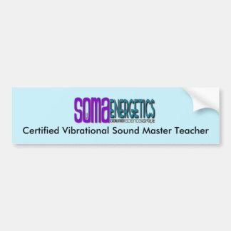 Cert.Vibration Sound Master Teacher bumper sticker