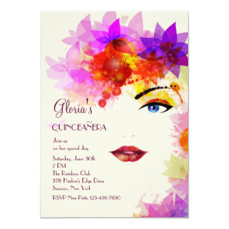 Certain Glance Quinceanera Invitation