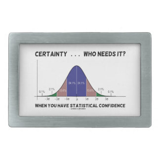 Certainty ... Who Needs It? When You Have Stats Belt Buckle