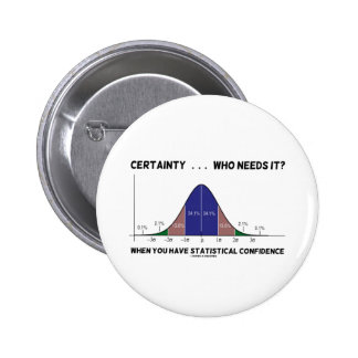 Certainty ... Who Needs It? When You Have Stats Pin