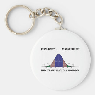 Certainty Who Needs It When You Have Stats Key Chains