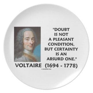 Certeza no agradable Voltaire de la condición de l