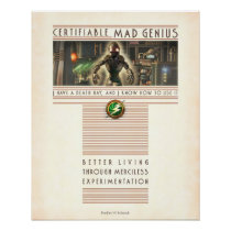 """Certifiable Mad Genius poster (16x20"""")"""