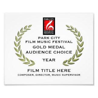 """Certificado 10"""" de la medalla de oro x 8"""" fotografía"""