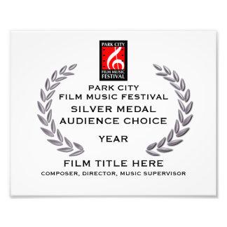 Certificado 10 del medallista de plata x 8 foto