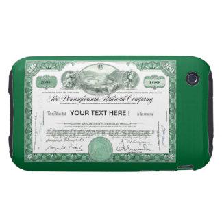 Certificado común del ferrocarril de Pennsylvania Tough iPhone 3 Cobertura