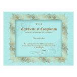 Certificado de azul de la belleza del diploma de l membrete