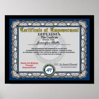 Certificado de capacitación póster