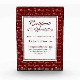 Certificado de encargo elegante del color de aprec