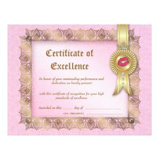 Certificado de la cosmetología de diploma de la ex plantillas de membrete