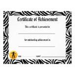 Certificado de la danza de logro - jazz de la cebr tarjetas informativas