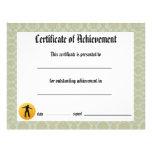 Certificado de la danza de logro - jazz del damasc flyer personalizado