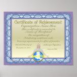 Certificado de logro (cristiano) poster