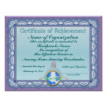 Certificado de logro (cristiano) posters