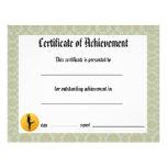 Certificado de logro - damasco de la danza lírico tarjeton