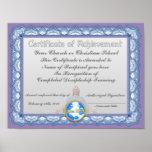 Certificado de logro (institución cristiana) impresiones