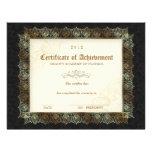 Certificado de negro de la belleza del diploma del plantilla de membrete